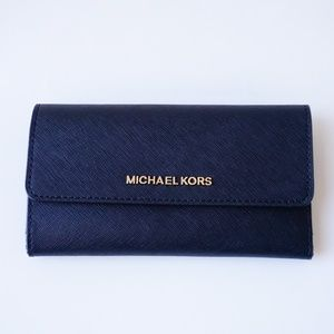 Michael Kors Jet Set Large Trifold Wallet Black
